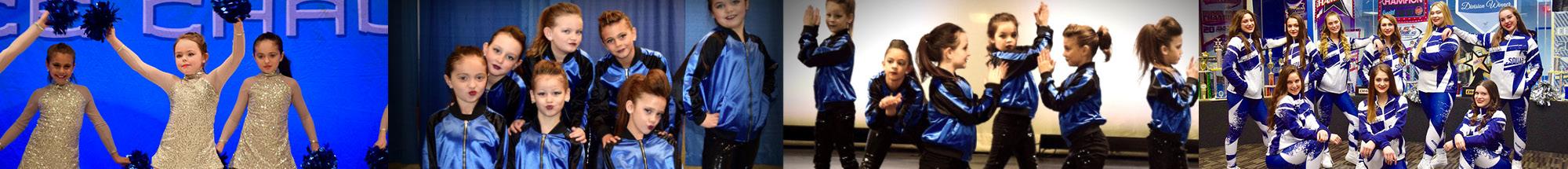 4 photos of girls dance team banner